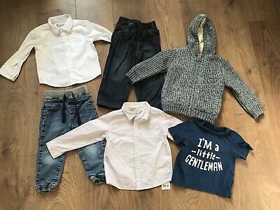 Baby boys bundle 18-24 months all m&s & mothercare jeans shirts hoody t shirt