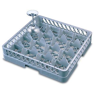 Genware NEV-GR16-3 Glass Rack, 16 Comp With 3 Extenders