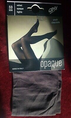 70b265642 NEW GIPSY 60 Denier Chocolate Velvet Opaque Tights. Italian. - EUR 4 ...