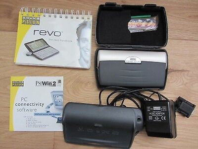 Psion Revo Plus 16mb PDA with 2 docking stations, manual & PSiWin 2.3