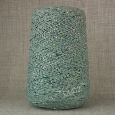 DONEGAL TWEED PURE WOOL 4 PLY YARN 200g CONE LIGHT BLUE HAND & MACHINE KNITTING