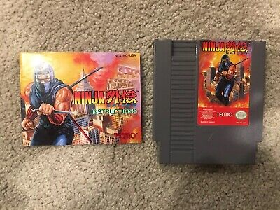 Nintendo Nes Ninja Gaiden Video Game W/ Manual