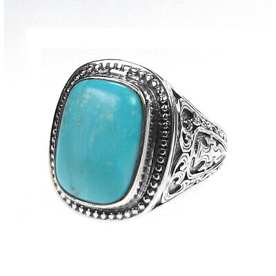Gerochristo 2204N~ Sterling Silver & Turquoise Medieval Chevalier Ring