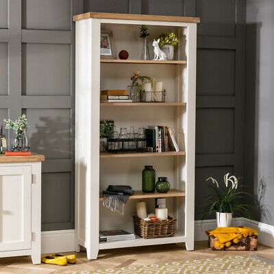 Cheshire Cream Painted Large Tall Bookcase with 4 Adjustable Shelves - WW34