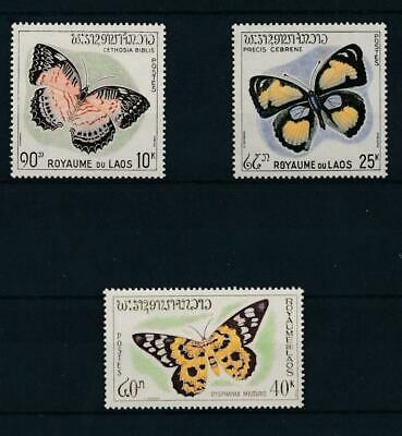 [32122] Laos 1965 Butterflies Good set Very Fine MNH stamps