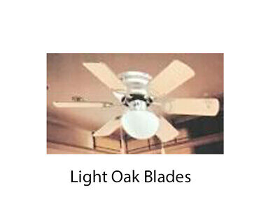 """Ceiling Fan 30"""" Twister Sweep Air Light Pull Cord Brushed Chrome Light Oak Blade"""