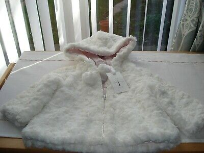 White Jasper Conran baby coat new with tag 3/6 months