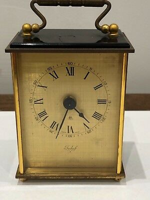Vintage Imhof 8 Day Swiss Made Brass Carriage Clock