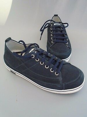 87ca615b641e WOMENS Size 4 Fitflop Super T Marine Navy Blue Suede Trainers - EUR ...
