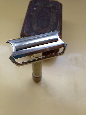 Rasoir barbier ancien Leresche 77 vintage safety razor