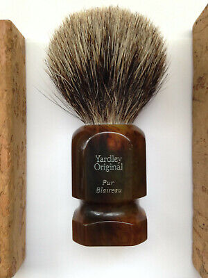 Blaireau rasage rasoir barbier Yardley Original T 10 made in France pur blaireau