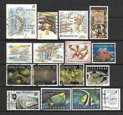 Singapore 1993 and 1994 used , includes $5 Coral