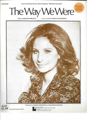 The Way We Were, 1973, fr same name movie, Barbra Streisand on the cover
