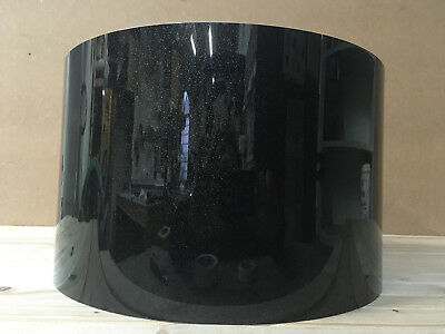 Drum Wrap, Drum Covering - snare size, black sparkle