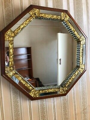 Stunning Ornate Vintage  Octagonal Wall Mirror. Excellent Condition.