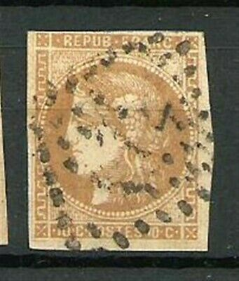 France Type CERES N° 43A le 10 C. BISTRE Obl. Emission de Bordeaux. Cote 90€