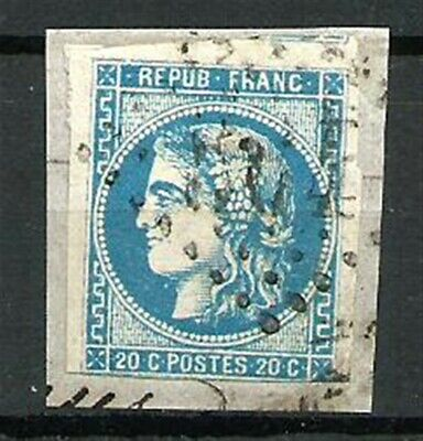 France Type CERES N° 46A le 20 C. BLEU Obl. Emission de Bordeaux. Cote 130€