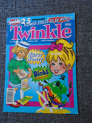 Twinkle Comic With Playmobil Flower Stall Set Competition, # 1585 Jun 6 1998