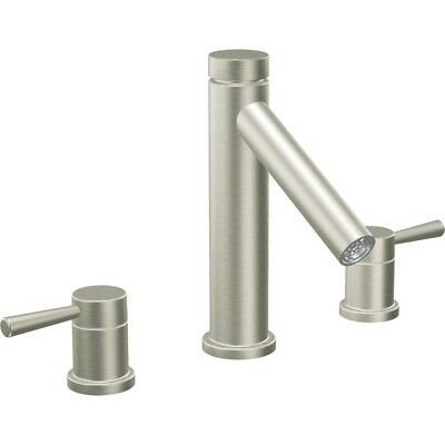 Moen T913BN Brushed Nickel  Level Two Handle High Arc Roman Tub Faucet