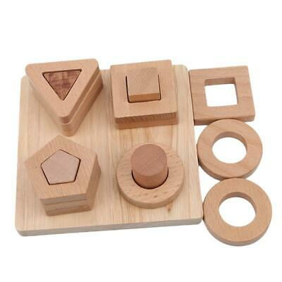 Educational Learning Toy Cognitive Puzzle Board for Kids Wooden Children H