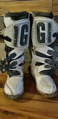 Gaerne sg10 Motocross Off-road Dirtbike Boots Gear size 9 White