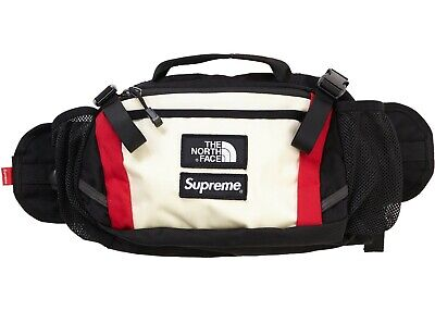 55e4d80951 SUPREME FW18 THE North Face Expedition Waist Bag White In Hand ...