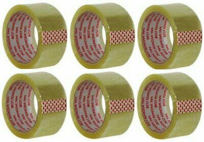 "Clear Packing Tape 2""X55 Yds (6 Pack)"