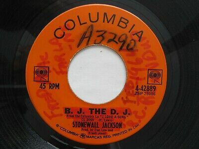 Stonewall Jackson  -  B.J. The D.J. / Big House On The Corner.  45 RPM