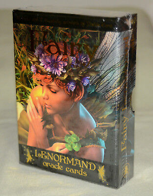 FAIRY LENORMAND ORACLE Card Deck & Book Set ~faery tarot oracle fortune cards~