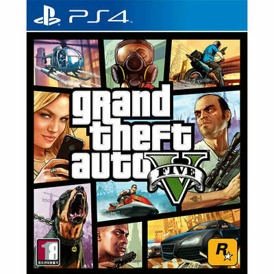 PS4 GTA5 Grand Theft Auto 5 Game Pack Disk CD Play Station Open World Action_IA