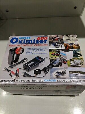 Oxford Motorcycle Bike battery Oximiser 600