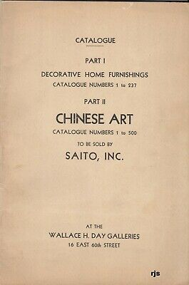 Catalogue Home Furnishings Chinese Art Wallace H. Day Galleries New York 1931