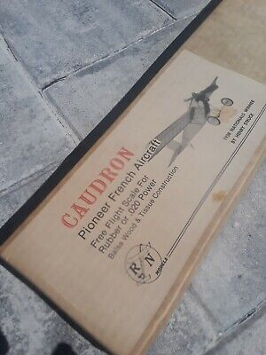 """R/N Models French Caudron for Cox .020 or Rubber Pwr 32"""" Span RC or Free Flight"""
