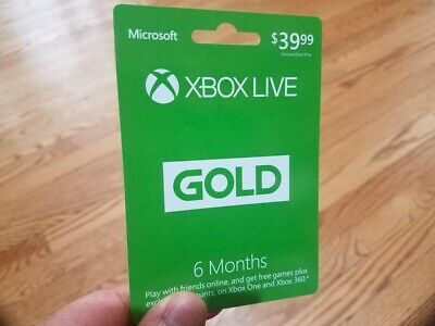 ***BRAND NEW*** Microsoft - Xbox Live 6 Month Gold Membership