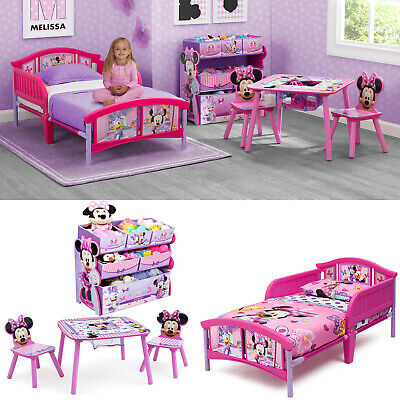 BEDROOM TODDLER BED Set Table and Chairs Set w/ BONUS Toy Organizer ...