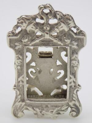 Vintage Solid Silver Italian Made Decorative Frame Miniature, Figurine, Stamped