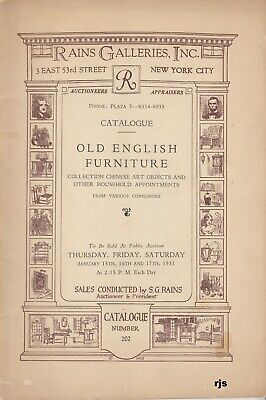 Coll.Old English Furniture Chinese Art Objects Rains Galleries New York 1931