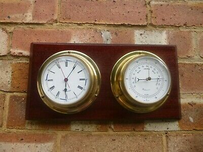 Vintage Weathermaster Ships Bulkhead Clock & Barometer : LOVELY CONDITION