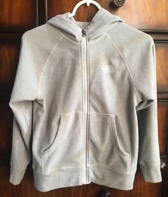 The North Face Boys Gray Fleece Full Zip Hoodie Size M (10/12) EUC