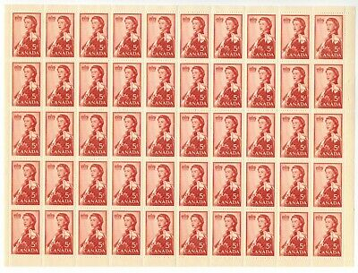 Canada Stamp #386 Field Stock Sheet 50 stamps MNH Royal Visit