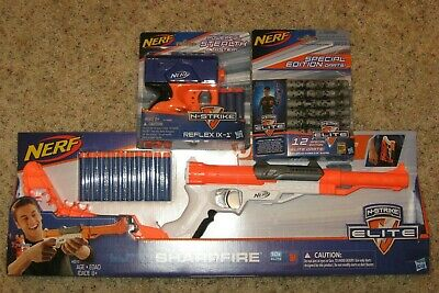 Nerf N-Strike Sharpfire and Reflex Dart Gun Lot with darts BRAND NEW UNOPENED