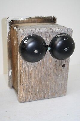Primitive Wood Door Bell Box Cover Cabinet Dovetailed Rustic Home Decor Antique