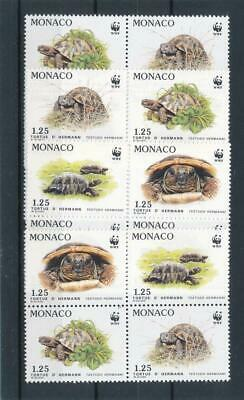 [32820] Monaco Turtles WWF Good set 4x Very Fine MNH stamps