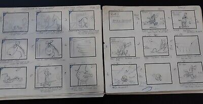 Hanna-Barbera Original Storyboards! 2 Complete Yakky Doodle Shows From 1961!