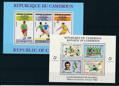 [G43214] Cameroon 1984/90 Soccer Two good sheets Very Fine MNH