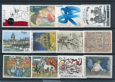 [G43278] France Art Paintings Good lot Very Fine MNH stamps