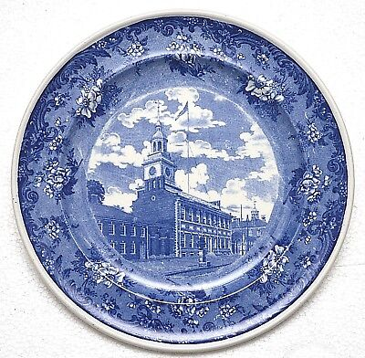 Vintage Minton Plate Wright Tyndale Van Roden State House Lafayette Border Phila