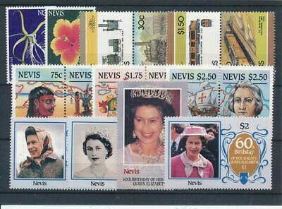 [15653] Nevis : Good Lot of Very Fine MNH Stamps