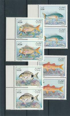 [15814] Algeria 1999 : Fishes - 2x Good Set of Very Fine MNH Stamps