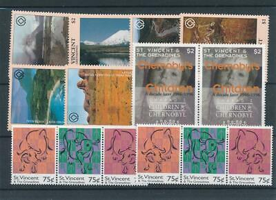 [15870] St Vincent & Grenadines : Good Lot of Very Fine MNH Stamps